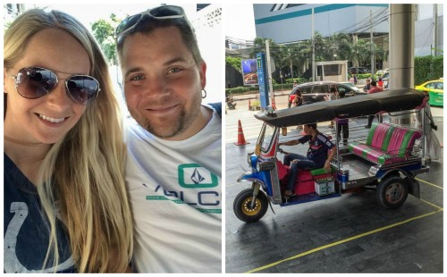 Our first Tuk Tuk Ride... complimentary at the U.