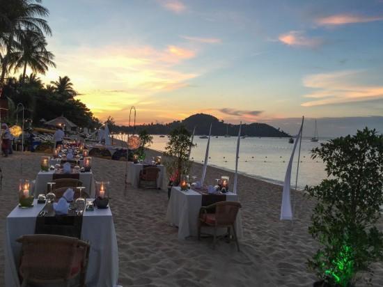 Dinner on the Beach BoPhut Resort